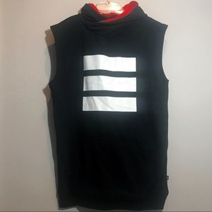 Adidas Berlin Hooded Sleeveless Sweatshirt Zippers